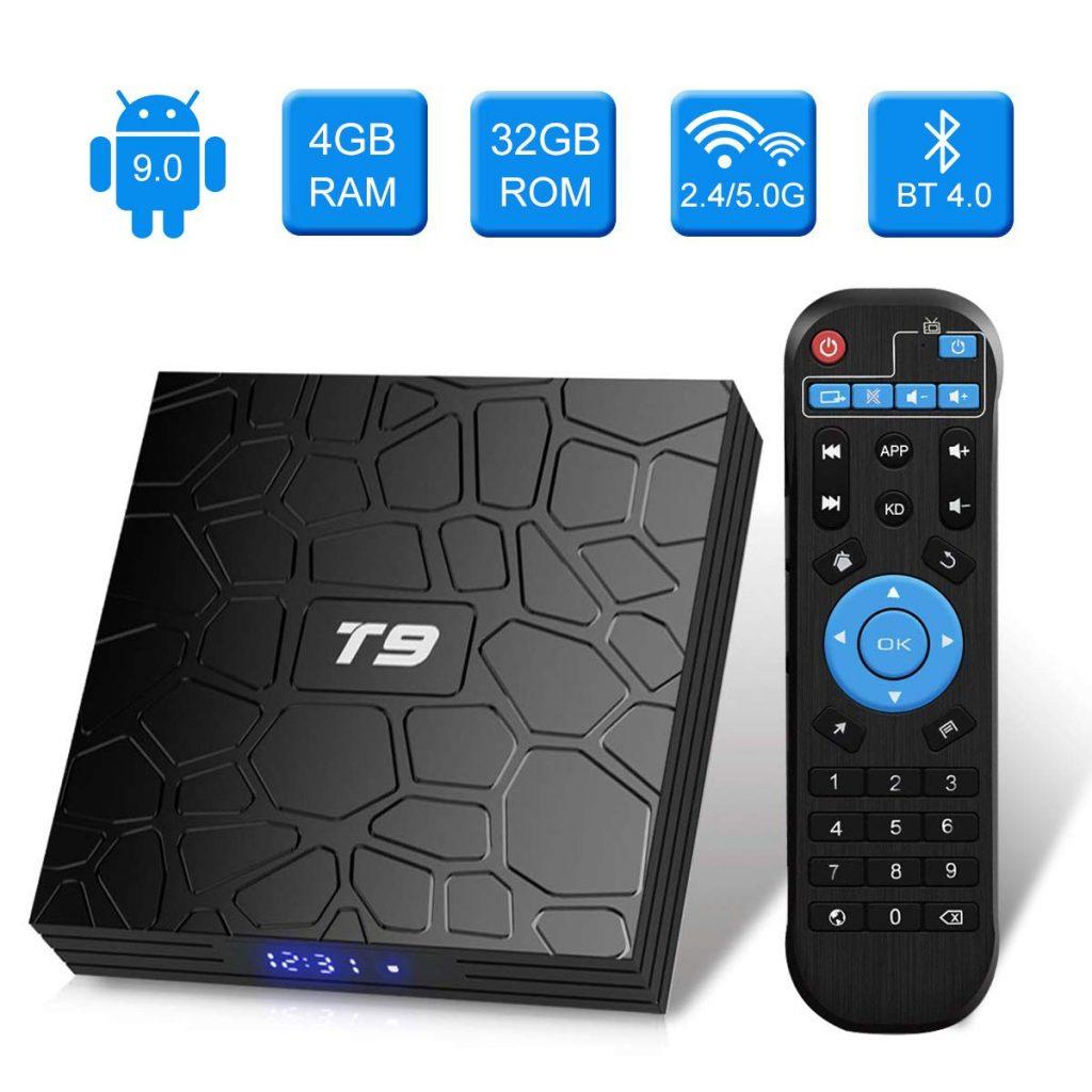 Android 9.0 TV BOX, Android Box con telecomando